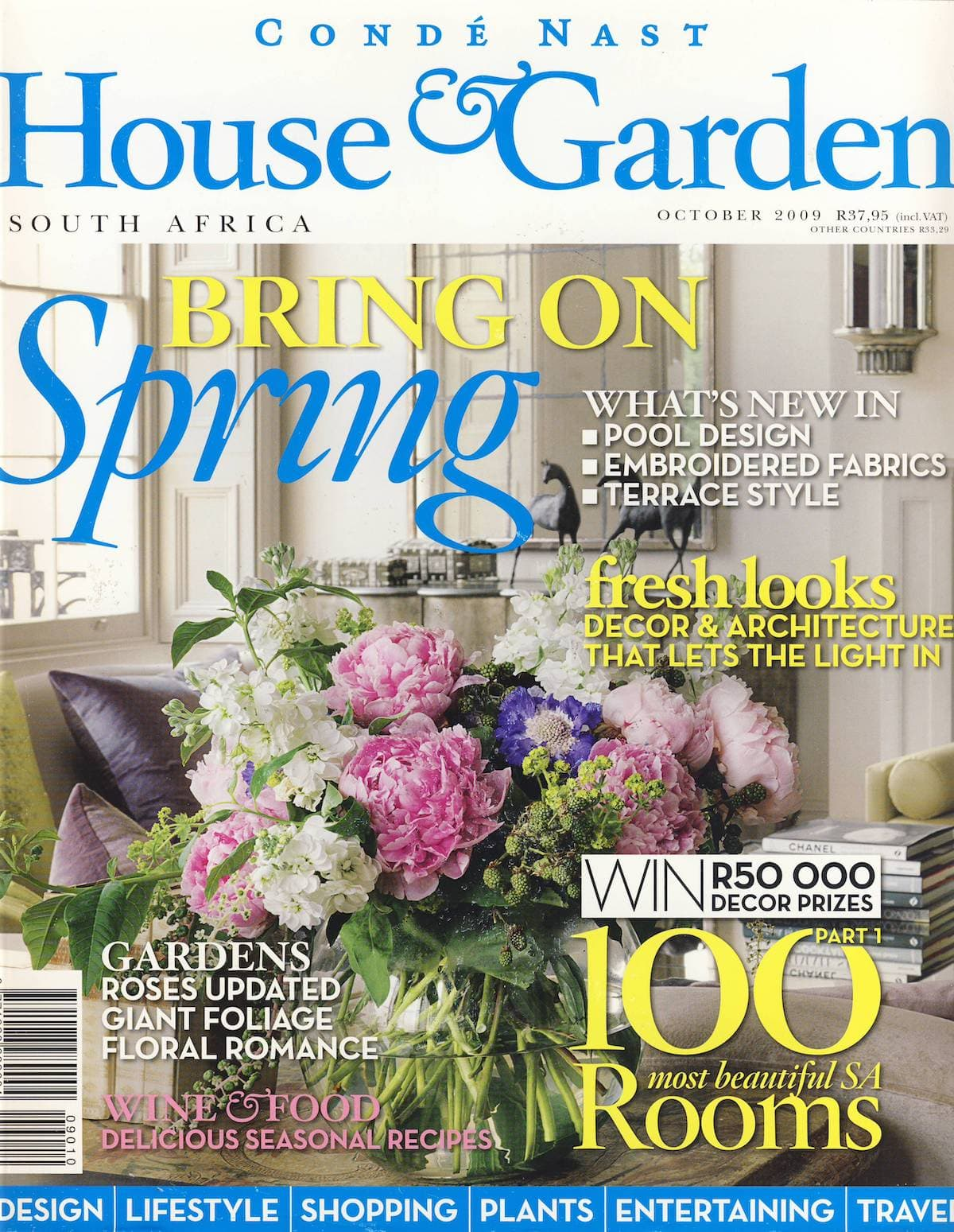 2009 House & Garden Most Beautiful Rooms Cover